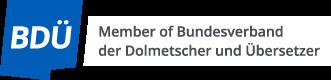 Member of Bundesverband der Dolmetscher und Übersetzer